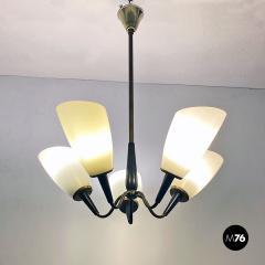 Five arm chandelier 1950s - 2034691