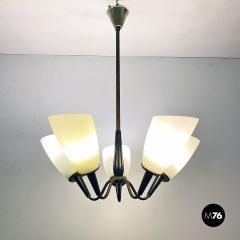Five arm chandelier 1950s - 2034692