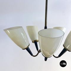 Five arm chandelier 1950s - 2034699