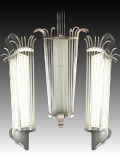 Five monumental lighting sconces France around 1940 - 913878