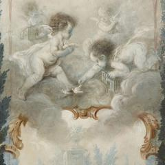 Five wall paintings in the manner of de Clermont and Fragonard - 1290559
