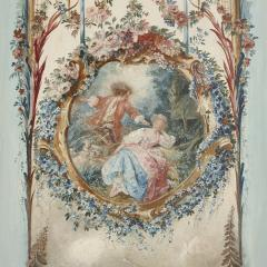 Five wall paintings in the manner of de Clermont and Fragonard - 1290560