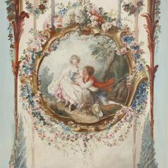 Five wall paintings in the manner of de Clermont and Fragonard - 1290562