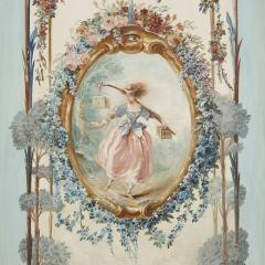 Five wall paintings in the manner of de Clermont and Fragonard - 1290563