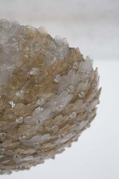 Flavio Poli Murano Glass Ceiling Lamp attr to Flavio Poli for Seguso 1950s - 2126837