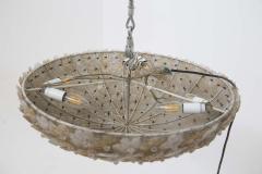 Flavio Poli Murano Glass Ceiling Lamp attr to Flavio Poli for Seguso 1950s - 2126838