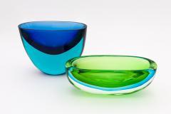 Flavio Poli Seguso Green and Blue Bowl by Flavio Poli - 650385