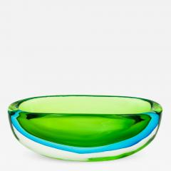 Flavio Poli Seguso Green and Blue Bowl by Flavio Poli - 651065
