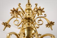 Flemish Brass Six Arm Chandelier - 1241802