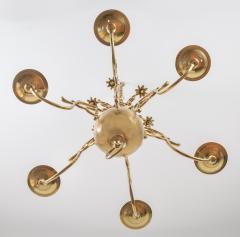 Flemish Brass Six Arm Chandelier - 1241803