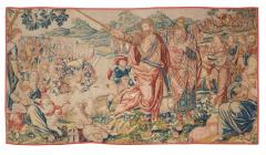 Flemish School 17th century fine tapestry of Bruxelles Moses and the Crossing of the Red Sea  - 1412849