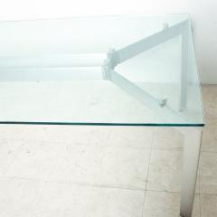 Floating Glass METRA Dining Table Makio Hasuike for SECCOSE Italy 1990s - 2083371