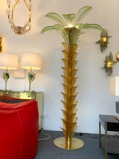 Floor Lamps Palm Tree Murano Glass and Brass Italy - 1450861
