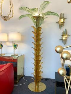Floor Lamps Palm Tree Murano Glass and Brass Italy - 1450862