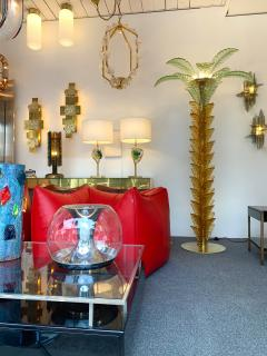 Floor Lamps Palm Tree Murano Glass and Brass Italy - 1450867