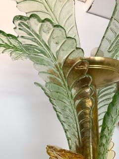 Floor Lamps Palm Tree Murano Glass and Brass Italy - 1450871