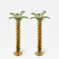 Floor Lamps Palm Tree Murano Glass and Brass Italy - 1451823