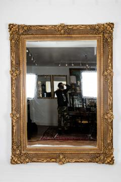 Floor Length Ornately Giltwood Hanging Beveled Wall Mirror - 1038140