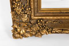 Floor Length Ornately Giltwood Hanging Beveled Wall Mirror - 1038143