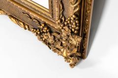 Floor Length Ornately Giltwood Hanging Beveled Wall Mirror - 1038146