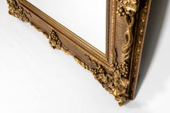 Floor Length Ornately Giltwood Hanging Beveled Wall Mirror - 1038147