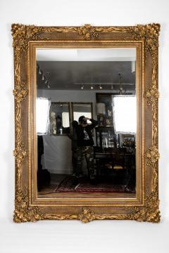 Floor Length Ornately Giltwood Hanging Beveled Wall Mirror - 1038148