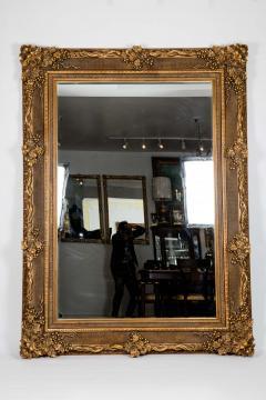 Floor Length Ornately Giltwood Hanging Beveled Wall Mirror - 1038150