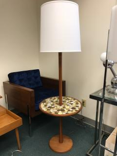 Floor lamp with tile table by Martz - 888110
