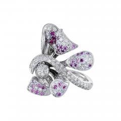 Floral Diamond Ring - 588417