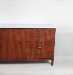 Florence Knoll 1960s Florence Knoll Book Matched Walnut Buffet with Calacatta Gold Marble Top - 1017282