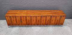 Florence Knoll Custom Bookmatched Brazilian Rosewood Florence Knoll Media Cabinet - 1051039