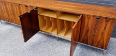 Florence Knoll Custom Bookmatched Brazilian Rosewood Florence Knoll Media Cabinet - 1051043