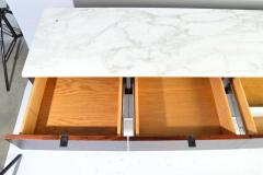 Florence Knoll Florence Knoll 8 Drawer Rosewood Credenza with Carrara Marble Top - 1408367