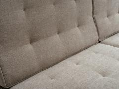 Florence Knoll Florence Knoll Armless Three Seat Sofa with Walnut Frame and New Gray Upholstery - 902202