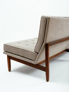 Florence Knoll Florence Knoll Armless Three Seat Sofa with Walnut Frame and New Gray Upholstery - 902205