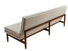 Florence Knoll Florence Knoll Armless Three Seat Sofa with Walnut Frame and New Gray Upholstery - 903076
