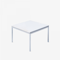 Florence Knoll Florence Knoll Coffee Side Tables in White Marble Pair - 1746956