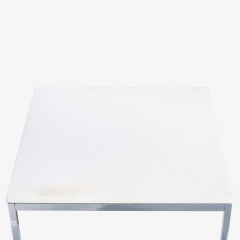 Florence Knoll Florence Knoll Coffee Side Tables in White Marble Pair - 1746958