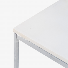 Florence Knoll Florence Knoll Coffee Side Tables in White Marble Pair - 1746959