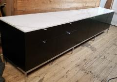 Florence Knoll Florence Knoll Credenza Sideboard with a Calacatta Marble on Ebonized Oak 1961 - 1145616