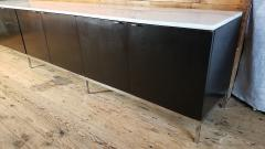 Florence Knoll Florence Knoll Credenza Sideboard with a Calacatta Marble on Ebonized Oak 1961 - 1145631