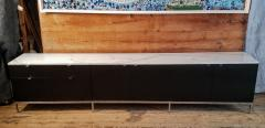 Florence Knoll Florence Knoll Credenza Sideboard with a Calacatta Marble on Ebonized Oak 1961 - 1147303