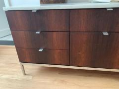 Florence Knoll Florence Knoll Rosewood and Calcutta Marble Credenza or Dresser Italy 1960s - 1672151