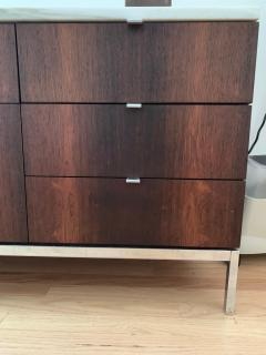 Florence Knoll Florence Knoll Rosewood and Calcutta Marble Credenza or Dresser Italy 1960s - 1672154