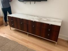 Florence Knoll Florence Knoll Rosewood and Calcutta Marble Credenza or Dresser Italy 1960s - 1672160