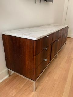 Florence Knoll Florence Knoll Rosewood and Calcutta Marble Credenza or Dresser Italy 1960s - 1672168