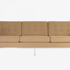 Florence Knoll Florence Knoll Sofa in Camel Wool Flannel - 443630