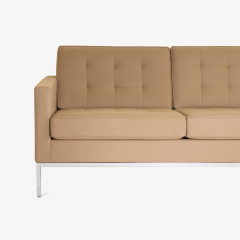 Florence Knoll Florence Knoll Sofa in Camel Wool Flannel - 443631