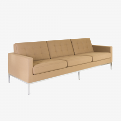 Florence Knoll Florence Knoll Sofa in Camel Wool Flannel - 443632