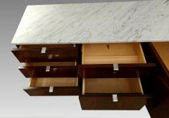 Florence Knoll Florence Knoll credenza in rosewood with Calacatta marble top 1964  - 1489740